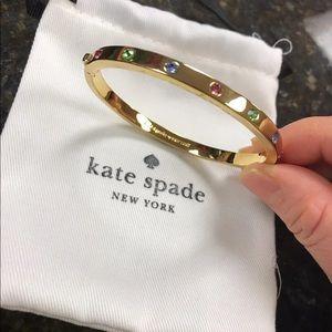 New KateSpade gold tone multicolor shiny bracelet